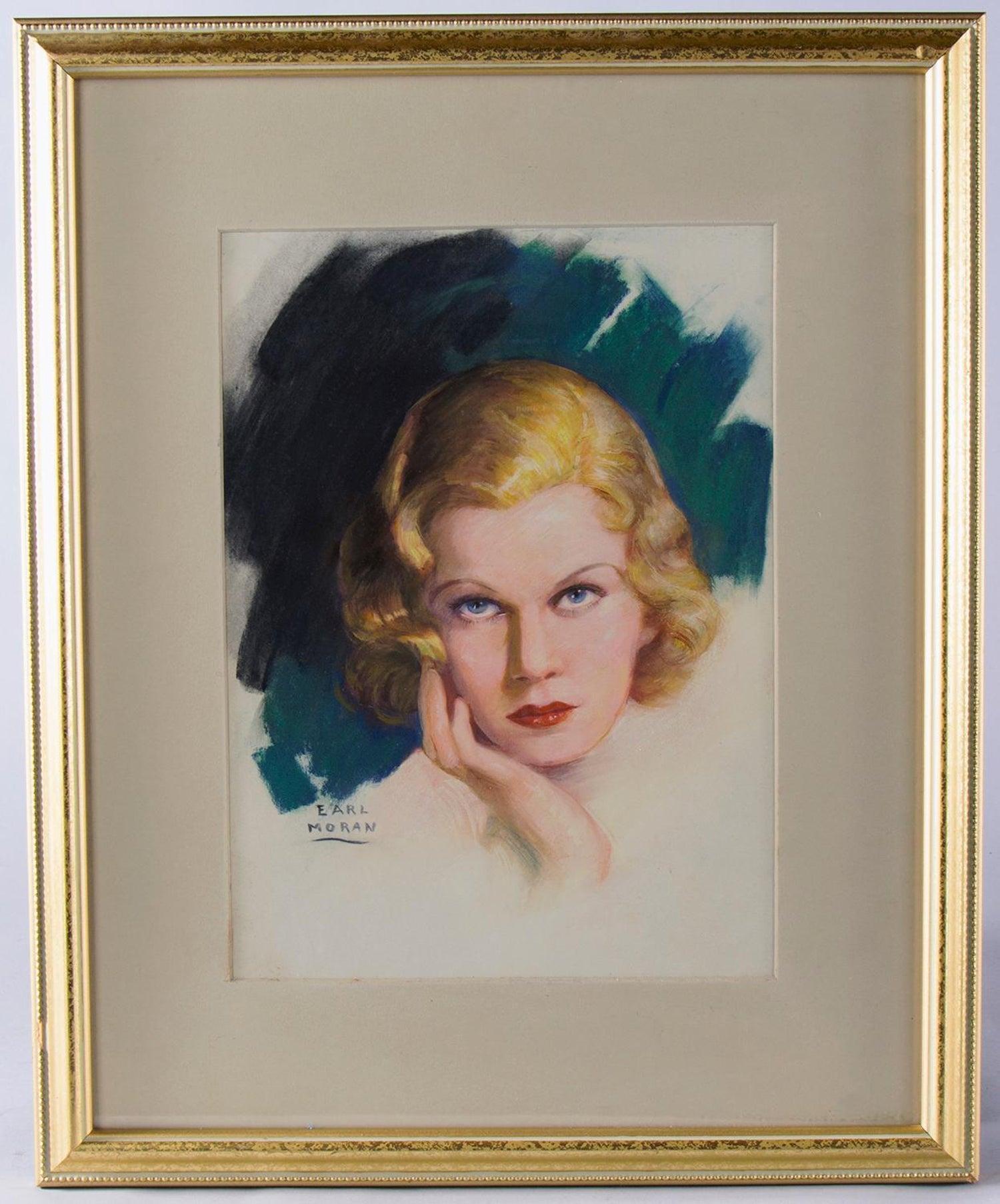 Earl Christy artist trading card Jean Harlow