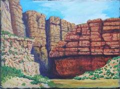 """""""The Entrance to Santa Elena Canyon of the Rio Grande, Big Bend, TX"""" Landscape"""