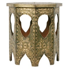 Earle 20th Century Octagonal Art Deco Copper Coffee Table