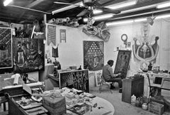 John Biggers in His Studio