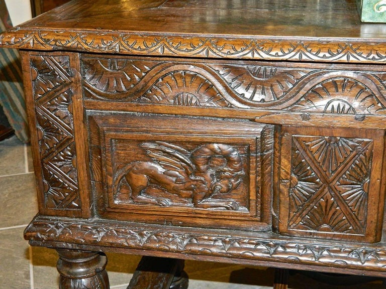 Baroque Early 17th Century Spanish Table Chest,