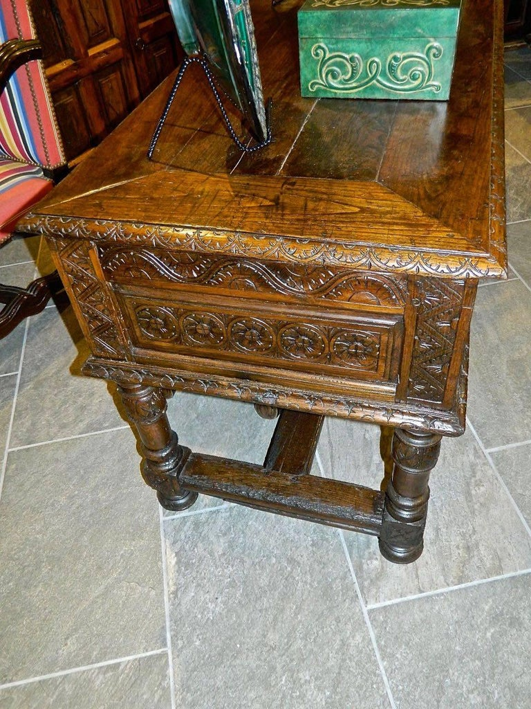 Hand-Crafted Early 17th Century Spanish Table Chest,