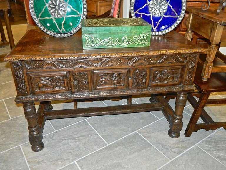 A beautifully preserved early 17th Century table chest (