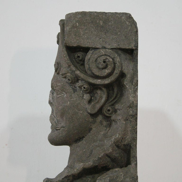 Early 17th Century Carved Stone Renaissance Bust For Sale 5
