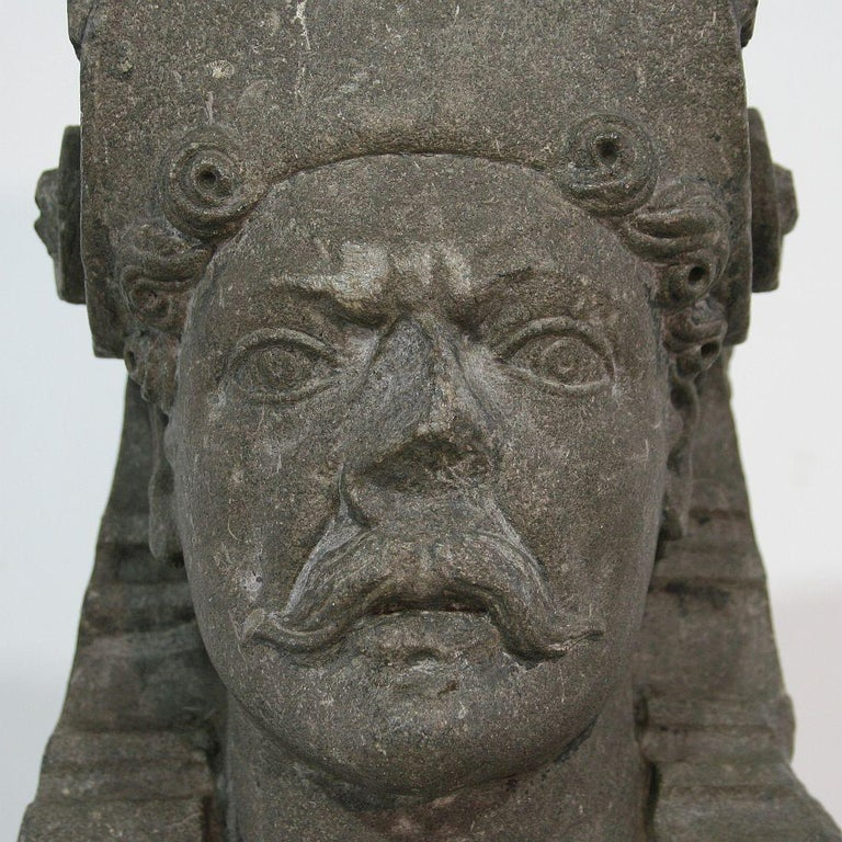 Early 17th Century Carved Stone Renaissance Bust For Sale 6