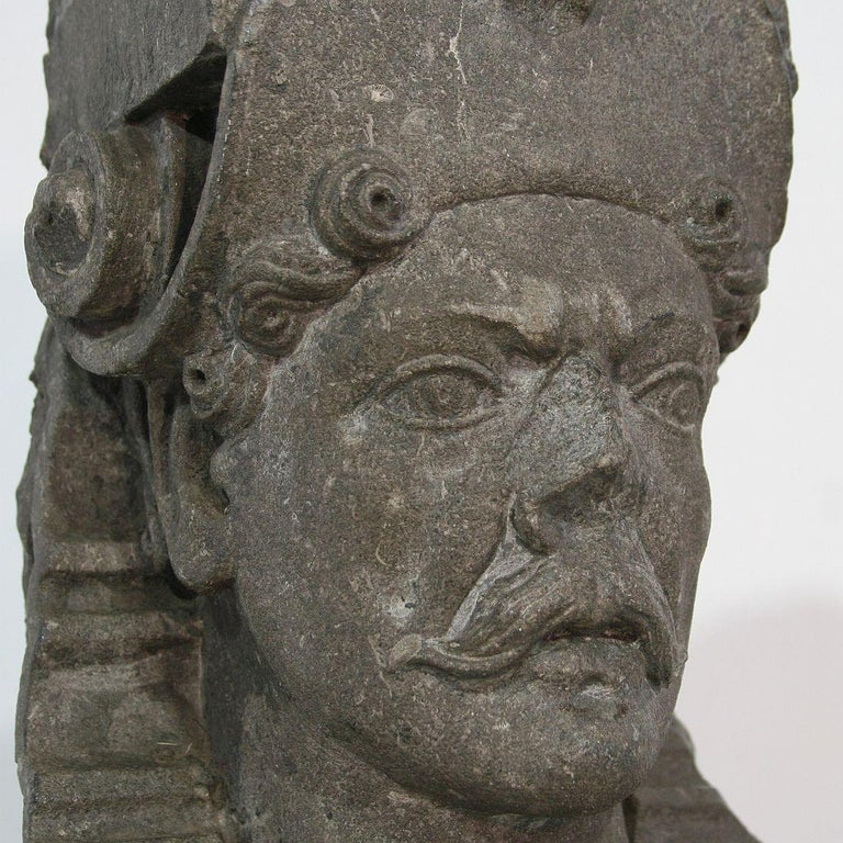 Early 17th Century Carved Stone Renaissance Bust For Sale 8