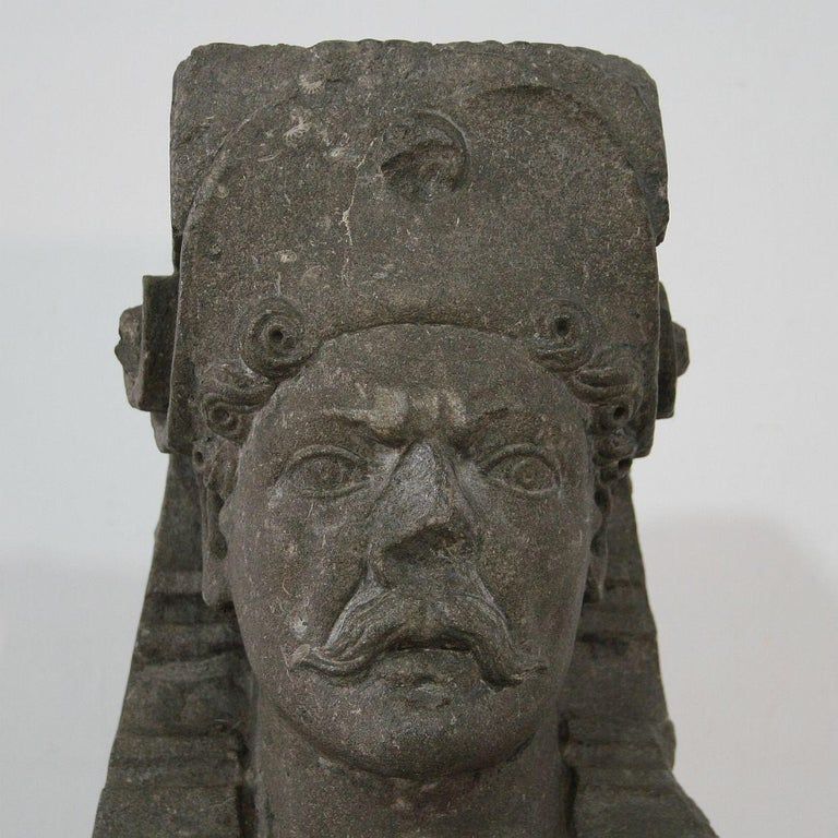 Early 17th Century Carved Stone Renaissance Bust For Sale 1