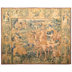 Early 17th Century Flemish Historical Tapestry with the Roman General Coriolanus
