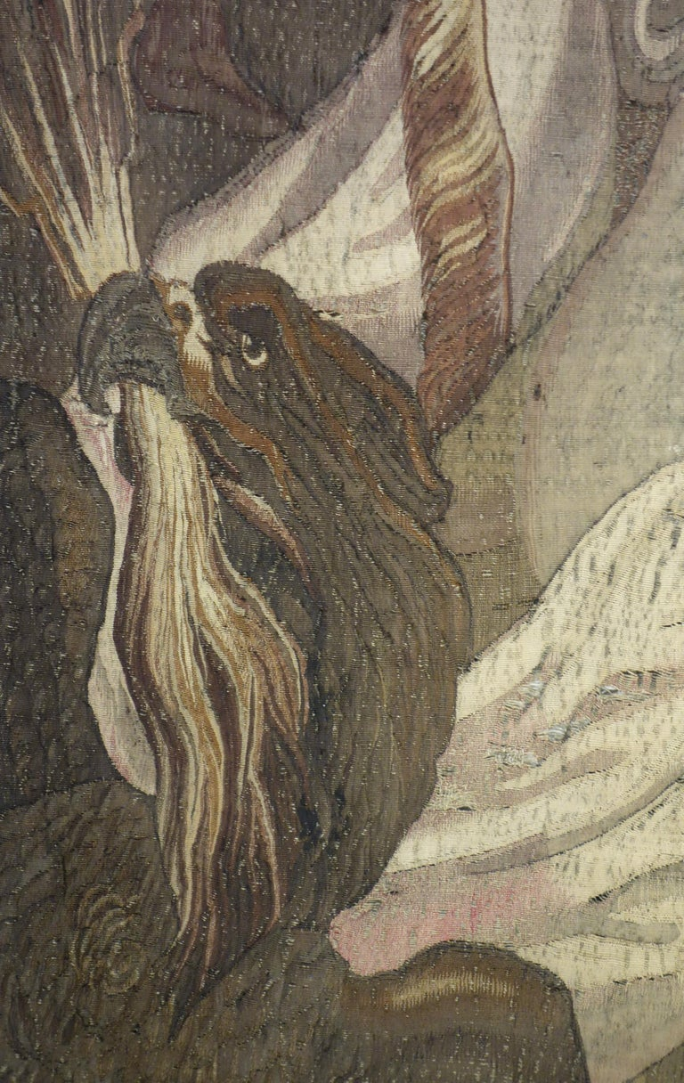 Early 17th Century Flemish Tapestry Fragment of Vulcan the Roman God of Fire For Sale 1