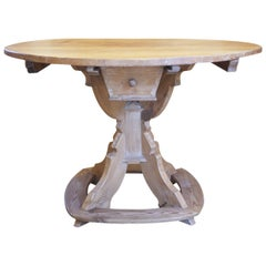 Early 1800 Round Coffee Card Table