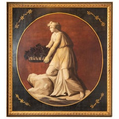 Early 1800s, Allegorical Oil Painting