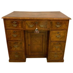 Early 18th-19th Century George III Knee Hole Desk Writing Table