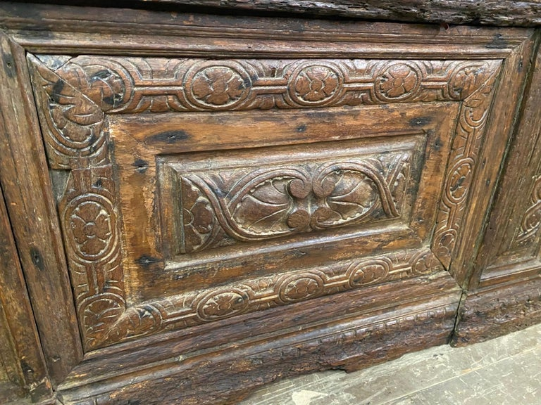 Early 18th C. Italian Cassone For Sale 3