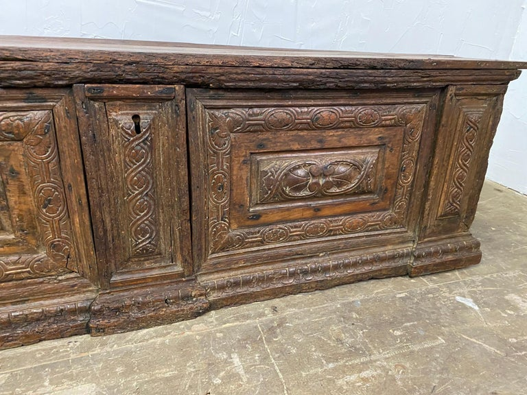 Early 18th C. Italian Cassone For Sale 5