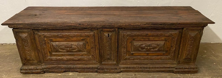 Early 18th C. Italian Cassone For Sale 12