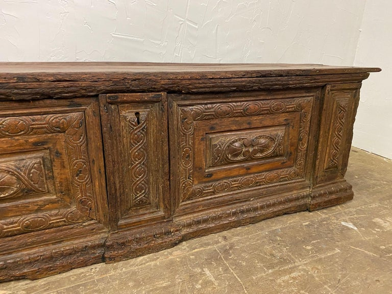 Baroque Early 18th C. Italian Cassone For Sale