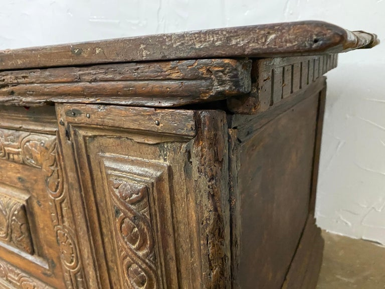 Hand-Carved Early 18th C. Italian Cassone For Sale