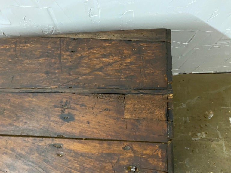 Early 18th C. Italian Cassone In Distressed Condition For Sale In Great Barrington, MA
