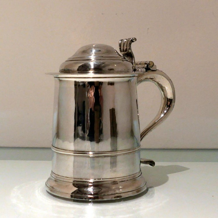 Early 18th Century Antique George I Britannia Silver Ladies Tankard London, 1714 For Sale 3