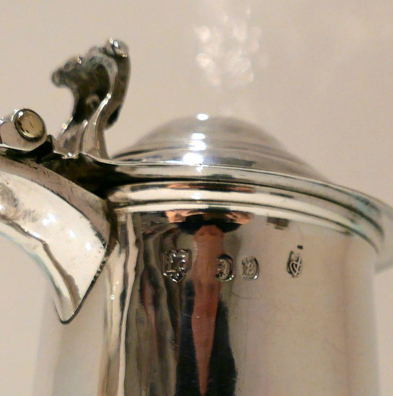 Early 18th Century Antique George I Britannia Silver Ladies Tankard London, 1714 For Sale 5