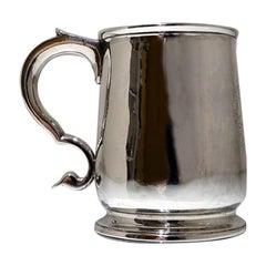 Early 18th Century Antique George I Sterling Silver Half Pint Mug London 1722 Ma