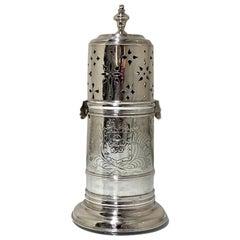 Early 18th Century Antique William III Britannia Silver Sugar Caster London 1701