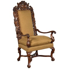 Early 18th Century Baroque Northern European Large Armchair
