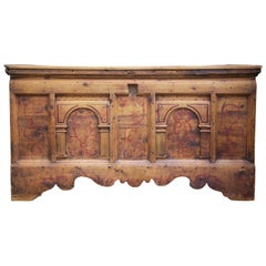 Early 18th Century Blanket Chest, Painted Arolla Pine