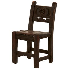 Early 18th Century Carved Oak Children's Chair