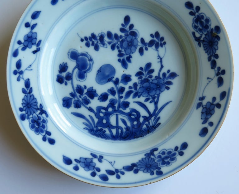 Early 18th Century Chinese Porcelain Blue and White Plate or Dish, Qing Ca 1730 For Sale 10