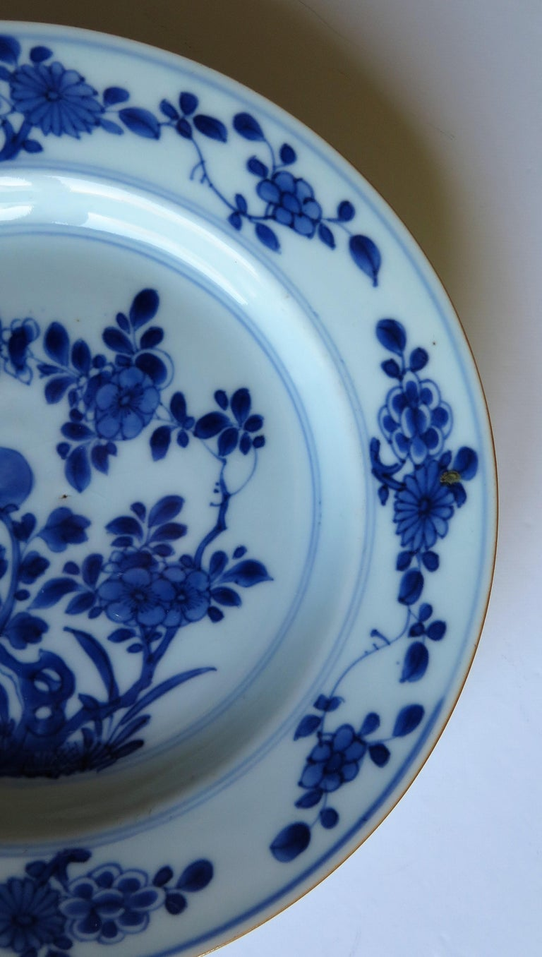 Early 18th Century Chinese Porcelain Blue and White Plate or Dish, Qing Ca 1730 For Sale 12