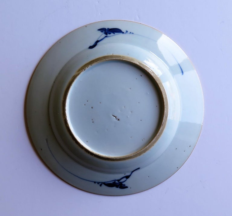 Early 18th Century Chinese Porcelain Blue and White Plate or Dish, Qing Ca 1730 For Sale 13