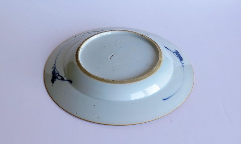 Early 18th Century Chinese Porcelain Blue and White Plate or Dish, Qing Ca 1730 For Sale 14