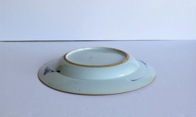 Early 18th Century Chinese Porcelain Blue and White Plate or Dish, Qing Ca 1730 For Sale 15