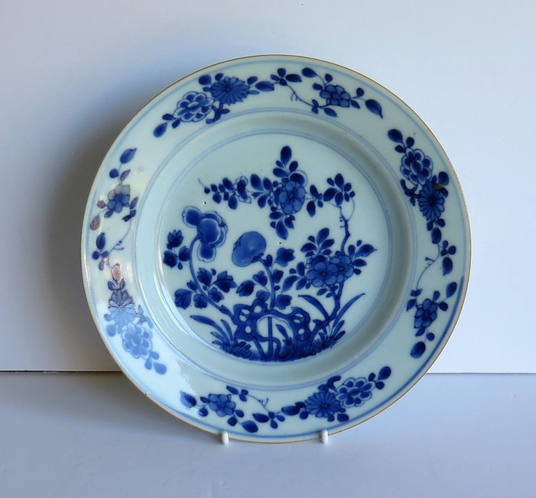 Early 18th Century Chinese Porcelain Blue and White Plate or Dish, Qing Ca 1730 In Good Condition For Sale In Lincoln, Lincolnshire