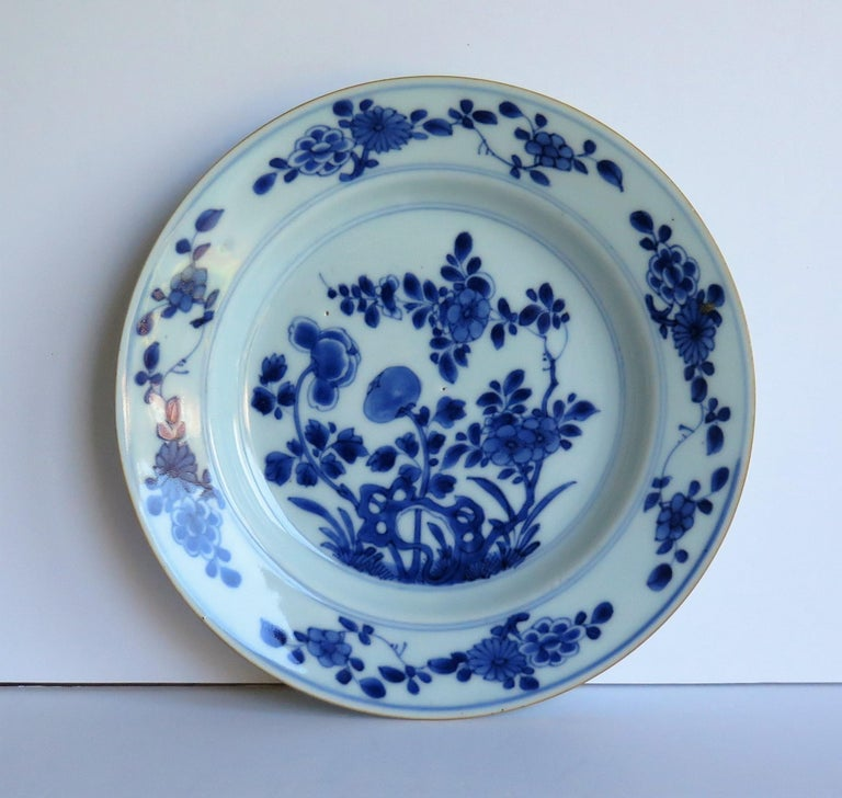 Early 18th Century Chinese Porcelain Blue and White Plate or Dish, Qing Ca 1730 For Sale 1