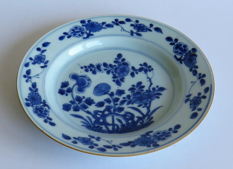 Early 18th Century Chinese Porcelain Blue and White Plate or Dish, Qing Ca 1730 For Sale 3