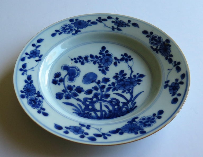 Early 18th Century Chinese Porcelain Blue and White Plate or Dish, Qing Ca 1730 For Sale 5