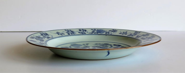 Early 18th Century Chinese Porcelain Plate Blue and White, Qing, circa 1730 For Sale 6