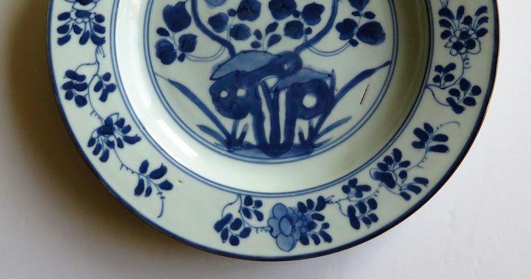 Early 18th Century Chinese Porcelain Plate Blue and White, Qing, circa 1730 For Sale 10