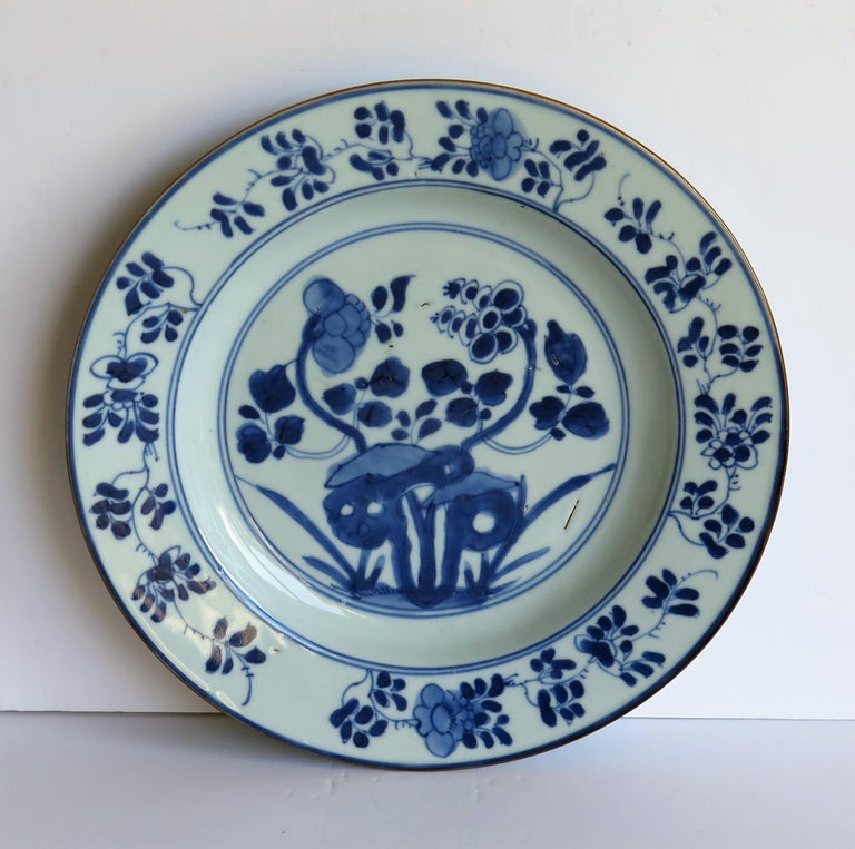 Early 18th Century Chinese Porcelain Plate Blue and White, Qing, circa 1730 In Good Condition For Sale In Lincoln, Lincolnshire