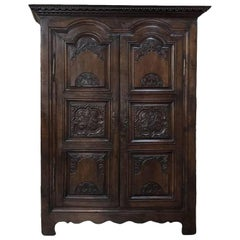 Early 18th Century Country French Louis XIV Period Armoire from Rennes