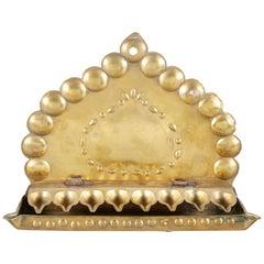 Early 18th Century Dutch Brass Hanukkah Lamp Menorah