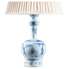 Early 18th Century Dutch Delft Knobble Vases Mounted as Table Lamp