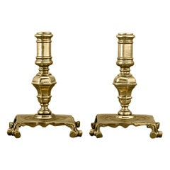 Early 18th Century English Brass Candlesticks