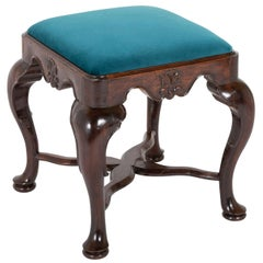 Early 18th Century English George II Deeply Carved Footstool