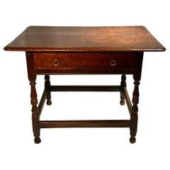 Early 18th Century English Oak Table, circa 1720