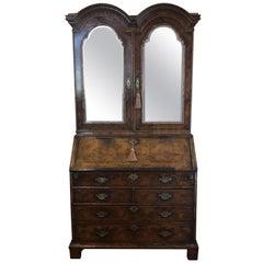 Early 18th Century English Walnut William and Mary Bureau Bookcase
