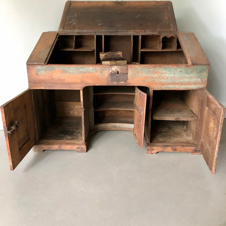 Hand-Carved Early 18th Century French Monastery Writing Desk For Sale
