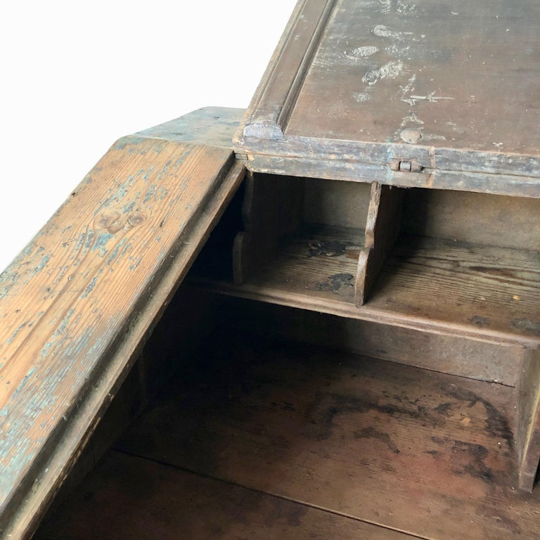 Early 18th Century French Monastery Writing Desk In Good Condition For Sale In Charleston, SC